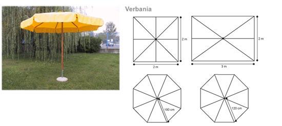 parasols en stock monture bois mat central. Black Bedroom Furniture Sets. Home Design Ideas